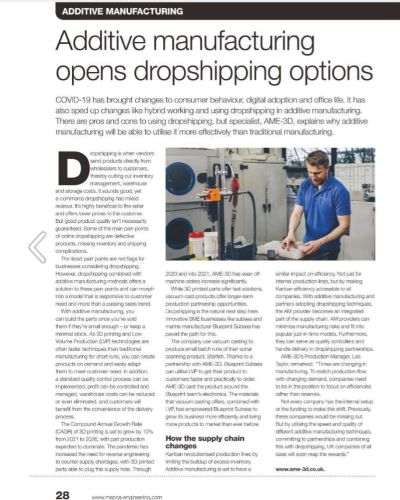 MEPCA AM in dropshipping MEPCA July issue article