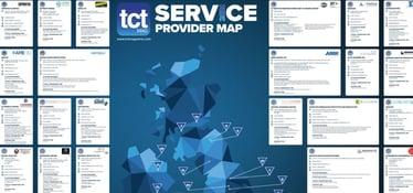 tct UK 3D printing service provider map 2021