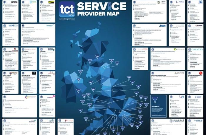 TCT UK Service Provider Map 2021 screenshot